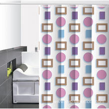 8' Tall Waterproof Bathroom printed Shower Curtain