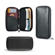 Security Front Pocket Leather Credit Card Holder Wallet