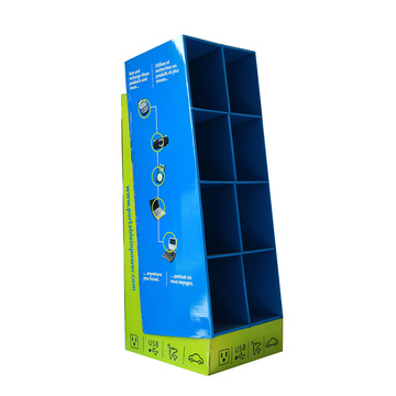 Rigid Cardboard Box Floor Display Stand