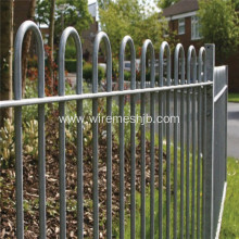Bow top fence for pleasure ground