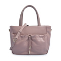 Ladies Casual Shopping Tote Bag Leather Drawstring Bag