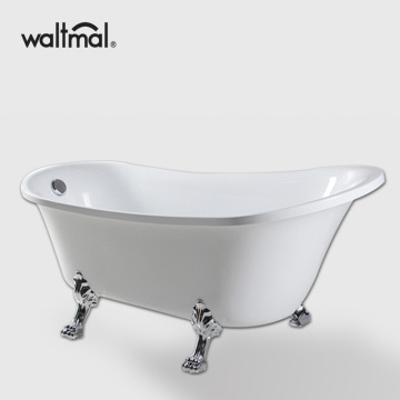 Elegant Claw Feet Slipper Tub in White
