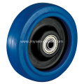 5'' Plate Fixed Blue Elastic Rubber Caster
