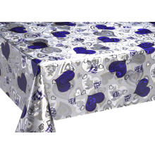 Mettalic Double Face printed Gold Silver Tablecloth