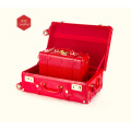 The red wedding suitcase the bride's wedding box