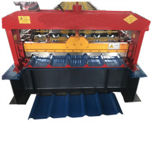 Trapezoidal roofing roll forming machine