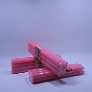 Red paraffin wax stick household candles for home