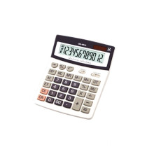 12 digits desktop calculator with solar energy
