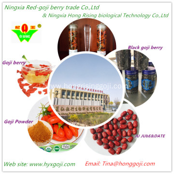 Natural Freeze Dried Black Goji berry contained anthocyanins