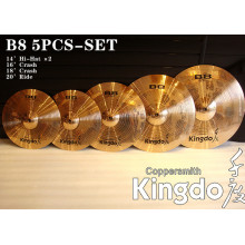 100% Original for B8 Practice Cymbals B8 Symphony Handmade Percussion Cymbals supply to Dominica Factories