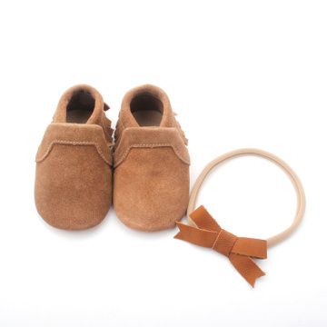 Wholesale Handmade Unisex Infant Baby Moccasins