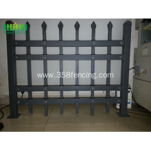 Wrought iron picket fence
