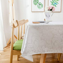 Goods high definition for Polyester Yarn Dyed Table Cloth Polyester Damask Waterproof Table Cloths export to South Korea Manufacturer