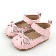 Toddler Leather Pink Bowknot Mary Jane Baby Shoes