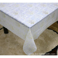 Printed pvc lace tablecloth by roll teal