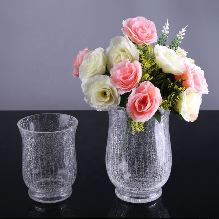Crack Effect Glass Flower Vase