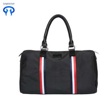 Striped Oxford style hand luggage