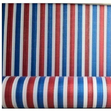 Striped PE Tarpaulin Roll Goods
