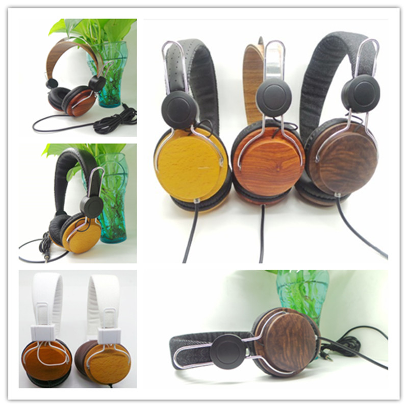 wooden headphone