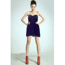 Strapless Sexiness Women`s Dress Pleated skirt
