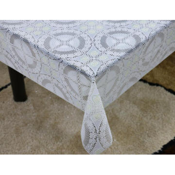 Printed pvc lace tablecloth by roll crystal