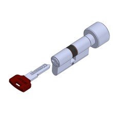 Customized for Knob Sided Computer Key Cylinder Lock Knob door lock cylinder hollow coded key supply to Portugal Exporter