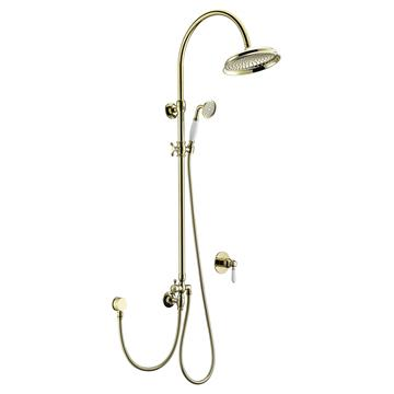 Classic Zirconium Gold Brass Shower Set