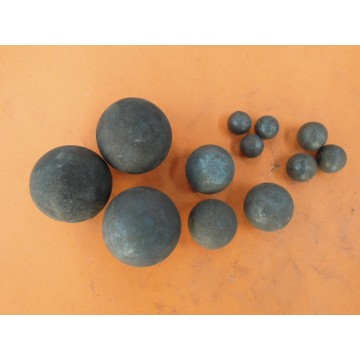 Forged and cast grinding ball for ball mill