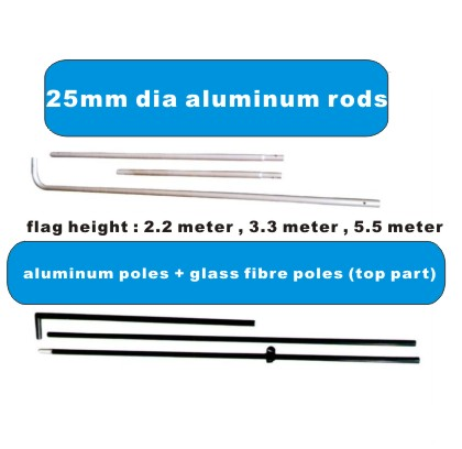 rectangular flag poles