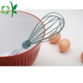 Manual Hand Silicone Egg Beater with Acrylic Whisk