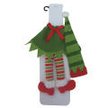 Christmas magic elf Wine Bottle cover