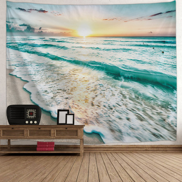 Tapestry Wall Hanging Sea Wave Beach Series Tapestry Sunrise Tapestry for Bedroom Home Dorm Decor