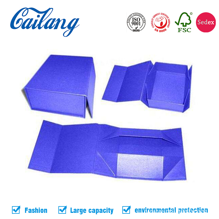 Exquisite Rigid Cardboard Apparel Paper Folding Gift Box