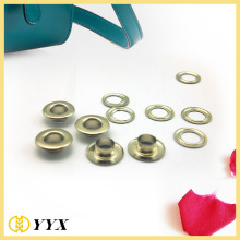 Painting colored round metal eyelets for Canvas