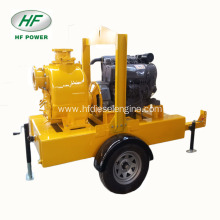 Trailer Mounted trash self priming diesel water pump set
