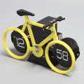 Yellow Bicycle Flipping Clock for Decor