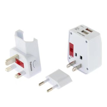 2 USB Universal Travel Power Adaptor