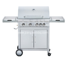 China for Propane Gas Grill 4 Burners Stainless Steel Double Layer Gas Grill export to Netherlands Manufacturer