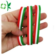 Press Three Layer High Qualitiy Silicone Wristband Bracelets