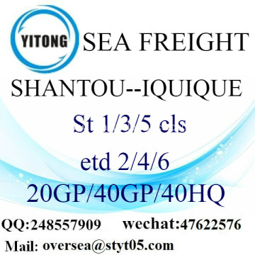 Shantou Port Sea Freight Shipping To Iquique