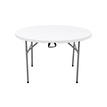 4FT Portable Round Folding Picnic In Half Table