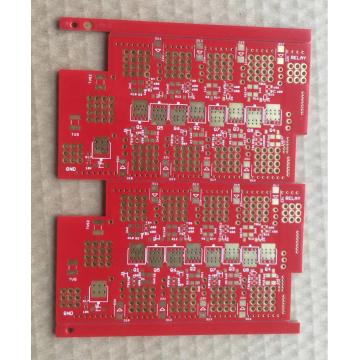 2 layer ENEPIG PCB with red solder mask
