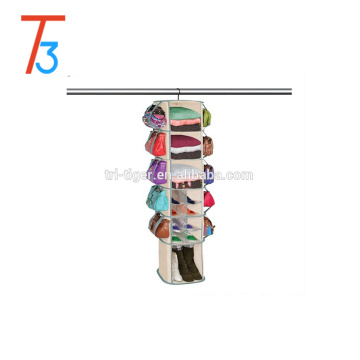 6-Tier Smart Carousel Organizer, Hanging Shoe Bag, Sweater Bag organizer
