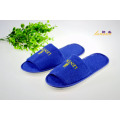Blue Terry Slipper Open Toe Towel Slipper