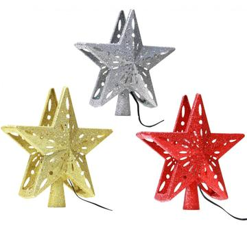 Led christmas star tree topper projector