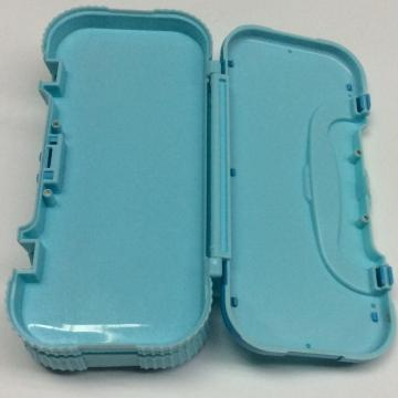 Plastic children three-layer portable pencil box