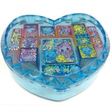 Hot-selling for Fancy Kids Stationery Plastic heart-shaped glitter letter stamp supply to Russian Federation Wholesale