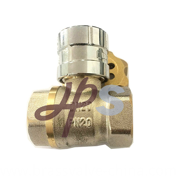 Brass Lockable Ball Valve With Magnetic Handle Hb49