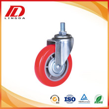 Professional High Quality for Screw Stem Pu Caster 5 inch thread stem caster pu wheels supply to American Samoa Supplier