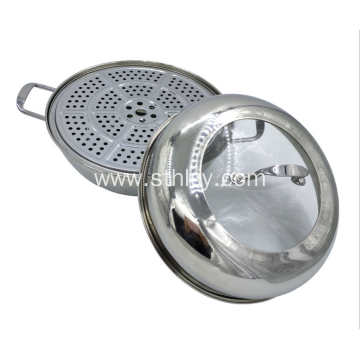 Double Bottom Three Layers Stainless Steel Steamer Pot